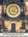 Astronomical clock on Old Town Hall in Prague, Czech Royalty Free Stock Photo