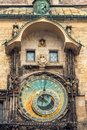Astronomical clock on Old Town Hall in Prague, Czech Royalty Free Stock Photos