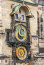 The astronomical clock in old town prague Stock Image