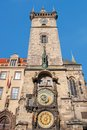 Astronomical clock orloj in the old town of prague installed it s only one still working world czech republic Royalty Free Stock Photography