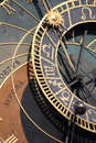 Astronomical clock part of the on the old town square in prague czech republic Royalty Free Stock Photos