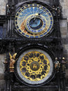 Astronomical clock of Prague Stock Photo
