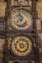 Astronomical clock in prague Stock Photo