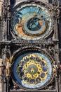 Astronomical clock, Prague, Chech republic. Europe Royalty Free Stock Photo
