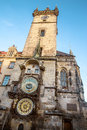 Astronomical clock in Prague city center, Czech Republic Royalty Free Stock Photo