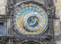 Astronomical clock in prague close up of Royalty Free Stock Photography
