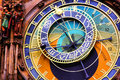Astronomical clock prague close up of the czech republic Stock Images