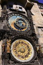 Astronomical clock on prague czech republic Royalty Free Stock Image