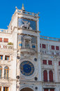 Astronomical clock in square San Marco, Venice. Royalty Free Stock Photo