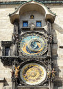 Astronomical clock on Staromestska Square, Prague Stock Images