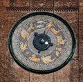 Astronomical clock on the Torrazzo tower, Cremona, Italy Royalty Free Stock Photo