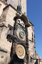 Astronomical Clock Tower in Prague Stock Photography