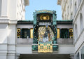 Astronomical clock Vienna Stock Photo