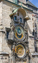 Astronomical clock on the wall of the Old Town Hall Royalty Free Stock Images