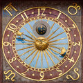 Astronomical clock of the Wroclaw Town Hall Royalty Free Stock Photo