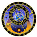 Astronomical clock - zodiac Royalty Free Stock Photo