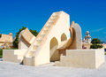 Astronomical observatory in japiur india jantar mantar rajasthan Stock Photos