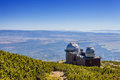 The astronomical observatory and weather station meteorological in tatra mountains Stock Photography