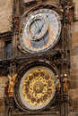 Astronomical Orloy Clock in Prague Stock Images