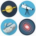 Astronomy Icons Set Royalty Free Stock Photo