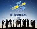 Astronomy News Exploration Nebular Concept Royalty Free Stock Photo