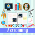 Astronomy set of educational icons for studying Royalty Free Stock Photography