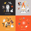Astronomy 2x2 Design Concept Royalty Free Stock Photo