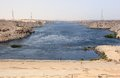 Aswan dam the high dam aswan egypt is an embankment situated across nile river in since s name commonly refers to Royalty Free Stock Images