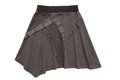 Asymmetric flared skirt fashionable grey Royalty Free Stock Photo