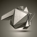 Asymmetric technical zink object contrast cybernetic spatial el element Royalty Free Stock Image
