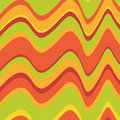 Asymmetrical retro waves Royalty Free Stock Image