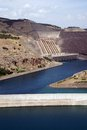 Ataturk dam on euphrates river in southeastern turkey Royalty Free Stock Image