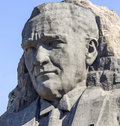 Ataturk relief at buca on september Royalty Free Stock Image