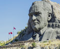 Ataturk relief at buca on september Royalty Free Stock Photos
