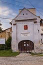 Atel fortified church Royalty Free Stock Photo