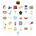 Atelier, appearance, hairdo and other web icon in cartoon style. tool, food, equipment, travel icons in set collection.