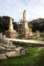 Atene, Grecia - l'agora e l'acropoli Immagini Stock
