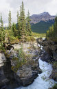 Athabasca Falls near Jasper in Canada Alberta Royalty Free Stock Photo