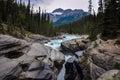 Athabaska falls rockies alberta canada Stock Image