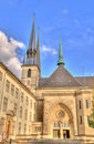 Athedral in Luxembourg Royalty Free Stock Photos