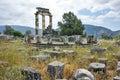 Athena Pronaia Sanctuary at Delphi Royalty Free Stock Photo