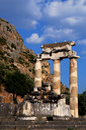 Athena Pronaia Sanctuary at Delphi, Greece Royalty Free Stock Photo