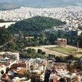 Athens acropolis top view city Stock Photo