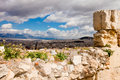 Athens from the acropolis a view of greece Royalty Free Stock Photography