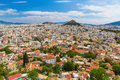 Athens aerial view from acropolis greece europe Royalty Free Stock Images
