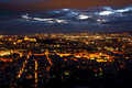 Athens city from Lycabettus Hill at night