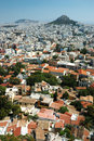 Athens cityscape from Acropolis hill,Greece Stock Photo