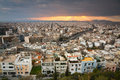 Athens greece evening view of from filopappou hill Stock Photography