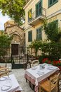 Plaka neighborhood in Athens. Royalty Free Stock Photo