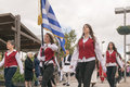 Athens greece october greek students parade to celebrate the national holiday of the ochi day Royalty Free Stock Images